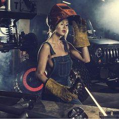 Welder clipart hot female #12