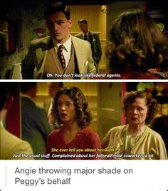 Angie is awesome - Agent Carter Marvel Dc Comics, Marvel Heroes, Marvel Avengers, Dc Movies, Marvel Movies, Funny Marvel Memes, Peggy Carter, Tony Stark, Marvel Cinematic Universe