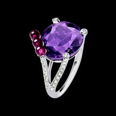 White Gold Amethyst Ring G34H1000 - Piaget Luxury Jewelry Online