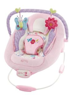 New Comfort And Harmony Baby Bouncer Vibrates Music Toy Bar Harness Girl Pink - http://baby.goshoppins.com/baby-gear/new-comfort-and-harmony-baby-bouncer-vibrates-music-toy-bar-harness-girl-pink/