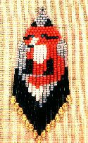 Red Fox Earrings or Pendant  The red fox of the Rocky Mountain Animals collection. 8 colors. Color graph with thumbnail image and delica # suggestions included in pattern. This pattern previously sold as item #6090.  Project Type: Bead Stitch: brick, fringe