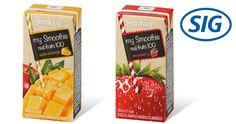 SIG Combibloc, trocitos de éxito: En un mercado en el que crece la demanda de productos que transmitan naturalidad y salud, las bebidas con trocitos de frutas presentan una buena oportunidad de negocio, y SIG Combibloc facilita el desarrollo de productos innovadores en esta dirección gracias a su avanzada tecnología Drinkplus