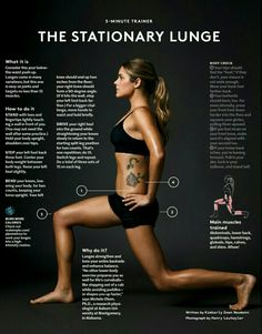 Stationary lunge | Real Simple | January 2015