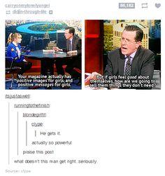Tavi Gevinson on Colbert Report //  Imgur