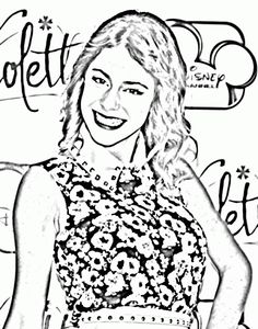 Violetta in a blue jeans jacket and long dress   Coloring Pages