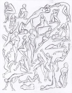 drawing poses Figure drawing studies - poses by on deviantART Drawing Studies, Art Studies, Figure Studies, Poses References, Drawing Reference Poses, Female Pose Reference, Anatomy Reference, Human Reference, Figure Reference
