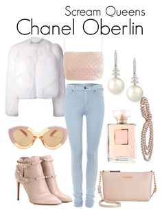Scream Queens by sparkle1277 on Polyvore featuring polyvore, fashion, style, Lashes of London, Yves Saint Laurent, Dr. Denim, Valentino, Calvin Klein, Belpearl, Karen Walker and clothing