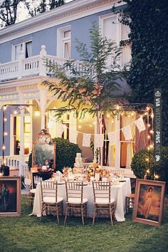 lace flags and string lights // event design by  shot by Gideon Photo | VIA #WEDDINGPINS.NET