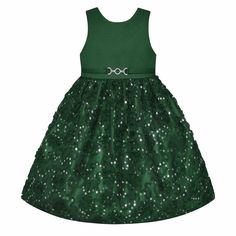 Girls 7-16 & Plus Size American Princess Sequin Soutache Skirt Dress, Size: 20 1/2, Dark Green
