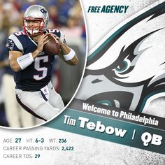 Welcome to Philadelphia, Tim. It's #TebowTime to #FlyEaglesFly!