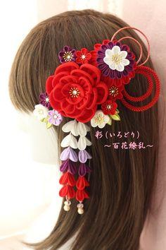 [受注制作]✨艶やか大正ロマン✨つまみ細工の髪飾り✨ Diy Craft Projects, Diy Crafts, All About China, Kanzashi Flowers, Ribbon Art, Fabric Flowers, Hair Bows, Hair Clips, Hair Beauty