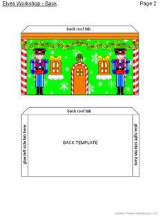 Elves' Workshop Page Christmas Images, All Things Christmas, Christmas Paper Crafts, Christmas Decorations, Diy Doll School Supplies, Simple Prints, Elves, Paper Dolls, Workshop