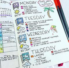 bullet journal - idee voor vakantie