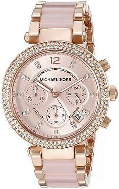 Cool watches fashion accessories http:categorymichael-kors-watch Michael Kors Womens Parker Two-Tone Watch Cute Watches, Stylish Watches, Luxury Watches, Watches For Men, Women's Watches, Female Watches, Dress Watches, Analog Watches, Ladies Watches