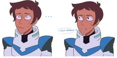"Art by teakoii - ""I read redalienwarship lil post saying   'How do u think lance's family feels when he comes home and hes like… ""so i got a cat"" and then blue smashes her head thru the garage door'"" - Lance & Blue"