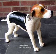 paper mache dog | paper mache, papier mache, papier maché, animal sculptures, dog ...