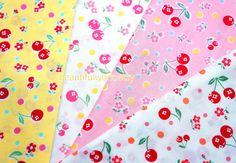 Yuwa fabric Atsuko matsuyama  cherry and flower by beautifulwork, $4.75