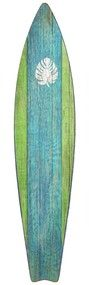 Green and Blue Surf Board Wall Art