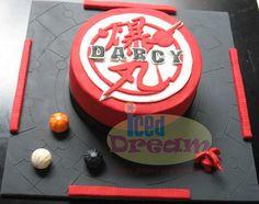 #Bakugan Cake - the logo looks amazing