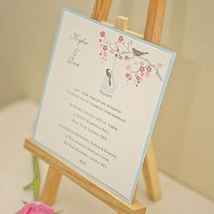 Lovebirds double mounted card - Beautiful Day stationery