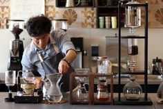 {the science of coffee} Chemex & other slow coffee methods at Le Flaneur