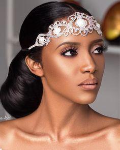 Bridal inspo 💕 x x x x x Black Bridal Makeup, Bridal Makeup Looks, Bride Makeup, Wedding Hair And Makeup, Bridal Looks, Hair Makeup, Bridal Beauty, Black Brides Hairstyles, Bride Hairstyles