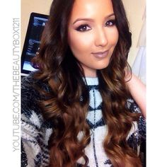 """Bellami Hair Extensions in Chestnut Brown! """"beautybox"""" gives you a discount!"""