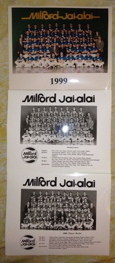 Milford Jai Alai Lot Postcards and Roster Photos | eBay