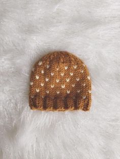 Flurries Knit Hat ~ easy ~ FREE KNITTING pattern