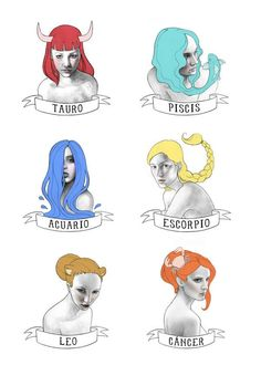 Blanca Vidal Illustrates the 12 Horoscope Signs as Women
