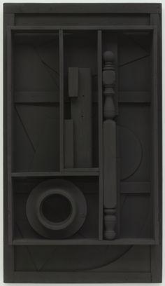 ", 1976-78. wood painted black, 60-1/2"" x 34-1/4"" x 5-1/2"" (153.7 cm x 87 cm x 14 cm)."