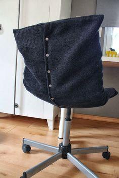 DIY easy slipcover for desk chair