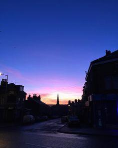 Morning in Manningham. #manningham #bradford #igersbradford #bluesky #redskyinthemorning #redsky