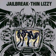 Thin Lizzy, Jailbreak, Vintage Record Album, Vinyl LP, Classic Rock and Roll… Greatest Album Covers, Rock Album Covers, Classic Album Covers, Music Album Covers, Music Albums, Thin Lizzy, Lps, Lp Cover, Cover Art