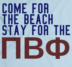 Come for the beach, stay for the Pi Phis #piphi #pibetaphi