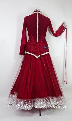SK-JAF1 ドイツファイナリスト着用!ガロールクチュール制作の羽びっしりの赤の長袖のスタンダードドレス(9号) | Atelier Casablanca -ダンスドレスの部屋- - 楽天ブログ