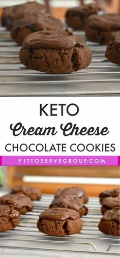 Keto Cream Cheese Chocolate Cookies a rich decadent low carb keto treat! Keto Cream Cheese Chocolate Cookies a rich decadent low carb keto treat! Keto Diet For Beginners Desserts Keto, Keto Friendly Desserts, Dessert Recipes, Keto Snacks, Dinner Recipes, Dessert Ideas, Cookie Recipes, Keto Desert Recipes, Holiday Desserts