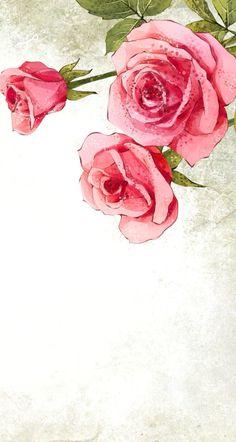 #art #wallpaper #background #phone #iphone #drawing #painting #spring #flowers #vintage #roses