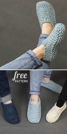 The Cutest Free Knitted Slippers Pattern Ideas
