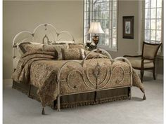 Shop for Hillsdale Furniture Victoria Bed Set - Queen, 1310-500, and other Bedroom Beds at Fords Furniture in Bowling Green, KY. Shabby yet chic is all the rage and the Victoria bed is the epitome of this popular style. Surrounded by ornate castings and sweeping scrollwork, the centerpiece of this bed is the lovely filigree oval.