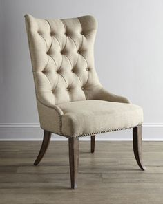 Two Donabella Tufted Chairs - Neiman Marcus