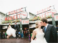 Classic Pike Place Market! #seattlwedding #seattle #weddingphotographer #downtownseattle #pikeplace Meghan & Blake: Downtown Seattle Wedding » Meredith McKee meredithmckee.com