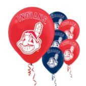 Cleveland Indians Latex Balloons 12in 6ct - Party City