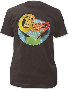 294e16a90 Chicago Rock Band Vintage Logo T-shirt - Chicago Logo with United States  Drawing