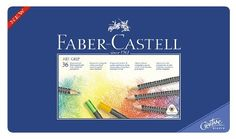 Faber-Castell Art GRIP Color Pencils, Tin of 36