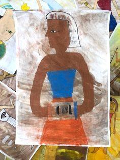 Nový egyptský panteón vytvorili na výtvarnej výchove žiaci z Prímy. Osvojili si kánon a farebnosť starovekých malieb, o ktorých sa učili na dejepise, no svojim božstvám vymysleli nové funkcie a vybavili ich atribútmi zo súčasnosti. Vybrali také veci, ktoré ľudia dnes považujú za natoľko dôležité, že by mohli mať vlastné božstvo. Aký by bol Váš výber?