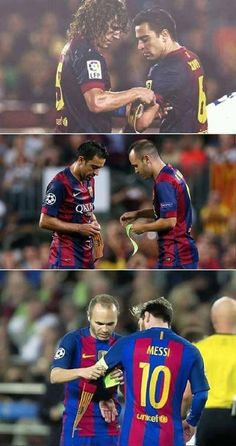 FC BARCELONA LEGACY Carles Puyol Xavi Hernández Andrés Iniesta Lionel Messi I love you so so sooo much! You are one of the Best Players Eber! Thank you so nach! You are always in my hart ❤ Club Football, Football Is Life, Best Football Team, World Football, Barcelona Team, Barcelona Futbol Club, Xavi Barcelona, Messi Soccer, Football Memes