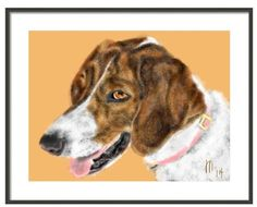 Custom Dog Pet Portrait dog art dog lover by LITDigitalPaintings, $20.00