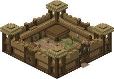 Rohan Fortress - Minecraft World Minecraft Building Guide, Minecraft Plans, Minecraft Houses Blueprints, Minecraft House Designs, Minecraft Survival, Cool Minecraft Houses, Minecraft Creations, Minecraft Crafts, Minecraft Buildings
