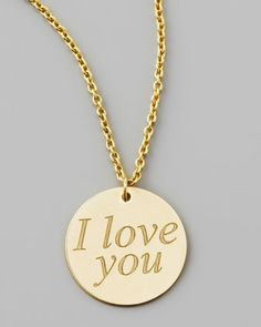 Yellow Gold I Love You Necklace by Roberto Coin